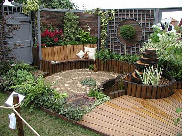 Jardiner a f cil algunas ideas para jardines peque os for Ideas decoracion jardin