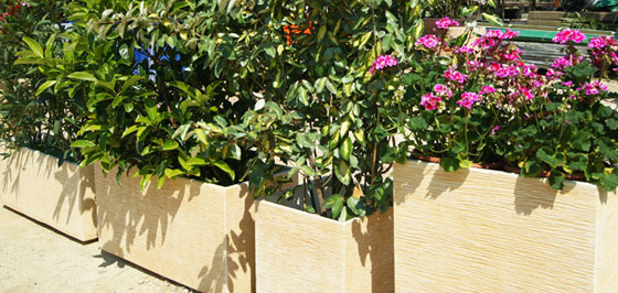 Jardineras para terrazas y centros comerciales